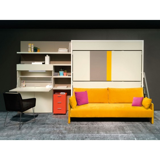 Wall bed Altea Home Office + Kali duo Sofa by Clei