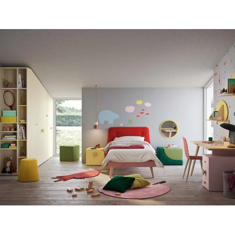 Free-form bedroom for Kids NIDI Space2